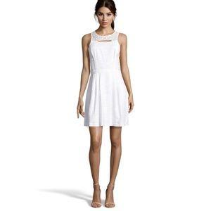 • Ali Ro • Eyelet Optic White Sleeveless Dress 4